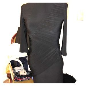 Adrianna Papell form fitting black dress